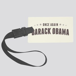 Obama Once Again Large Luggage Tag
