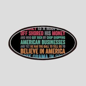 Anti Romney Believe Patches