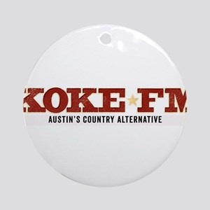 KOKE FM call letters only Ornament (Round)