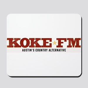 KOKE FM call letters only Mousepad
