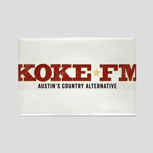 KOKE FM call letters only Rectangle Magnet