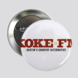 """KOKE FM call letters only 2.25"""" Button"""