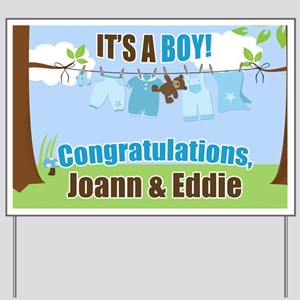 baby congratulations yard signs cafepress
