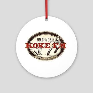 KOKE FM LOGO Ornament (Round)