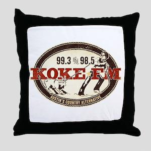 KOKE FM LOGO Throw Pillow