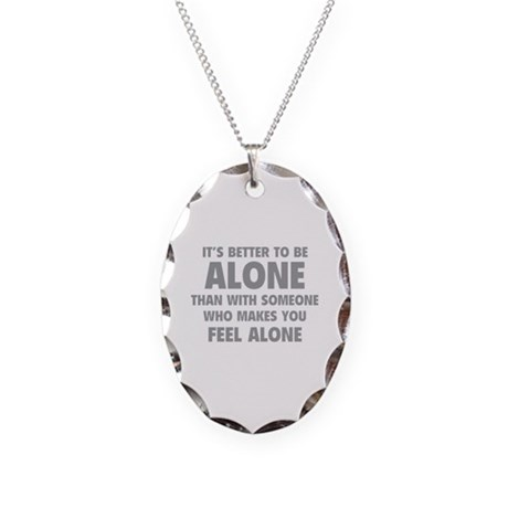 Alone Necklace Oval Charm