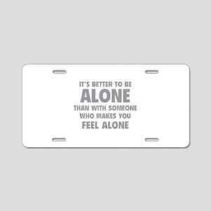 Alone Aluminum License Plate