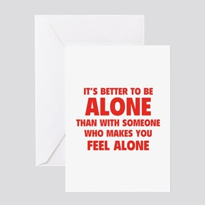 Alone Greeting Card