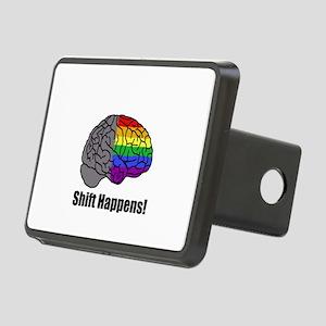 Shift Happens! Blk - Brain Rectangular Hitch Cover