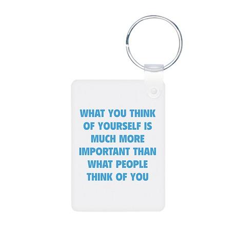 Think Of Yourself Aluminum Photo Keychain