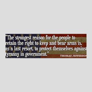 JEFFERSON: 2nd Amendment 36x11 Wall Peel