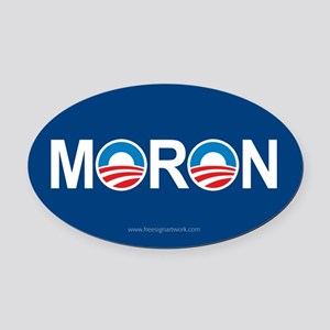 Anti Obama Logo Oval Car Magnets Oval Car Magnet