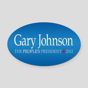 Gary Johnson 2012 Oval Car Magnet
