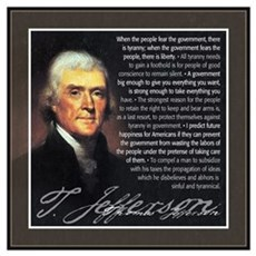 Jefferson: Liberty vs. Tyrann Framed Print