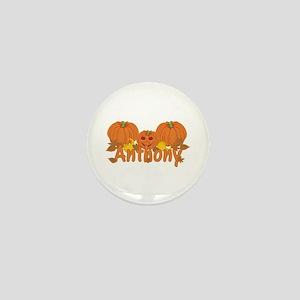 Halloween Pumpkin Anthony Mini Button