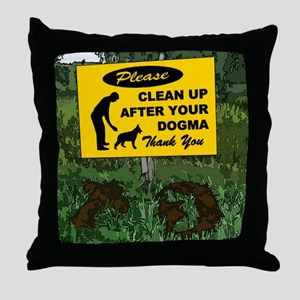Please Clean Up After Your Throw Pillow