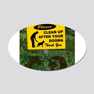 Please Clean Up After Your 20x12 Oval Wall Decal