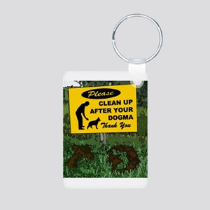 Please Clean Up After Your Aluminum Photo Keychain