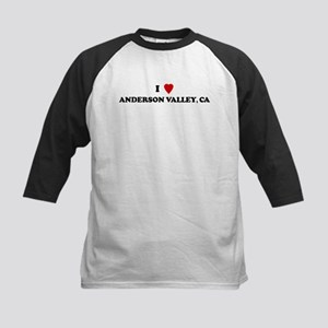 I Love ANDERSON VALLEY Kids Baseball Jersey