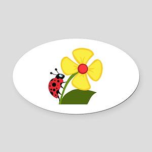 Ladybug Oval Car Magnet