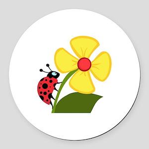 Ladybug Round Car Magnet