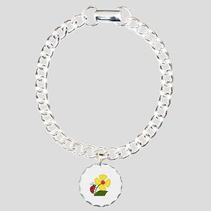 Ladybug Charm Bracelet, One Charm