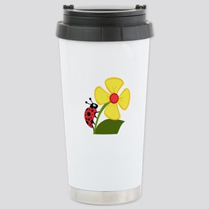 Ladybug Stainless Steel Travel Mug