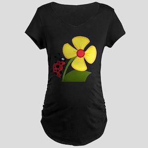Ladybug Maternity Dark T-Shirt