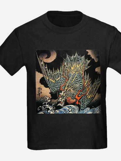 Vintage Hokusai Dragon T