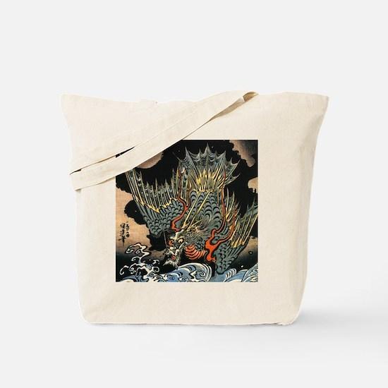 Vintage Hokusai Dragon Tote Bag