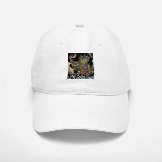 Vintage Hokusai Dragon Baseball Baseball Cap