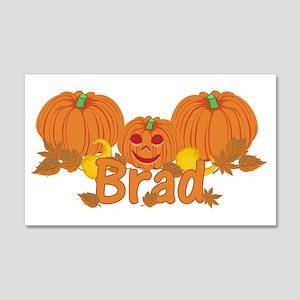 Halloween Pumpkin Brad 20x12 Wall Decal