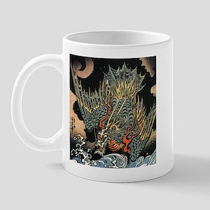 Vintage Hokusai Dragon Mug