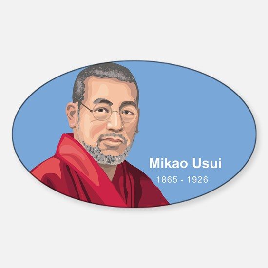 Mikao Usui Reiki, Sticker (Oval)