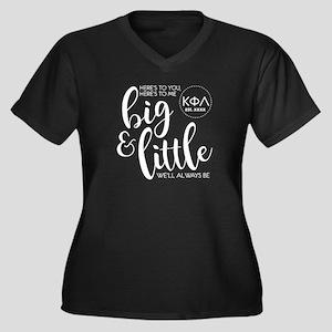 Kappa Phi La Women's Plus Size V-Neck Dark T-Shirt
