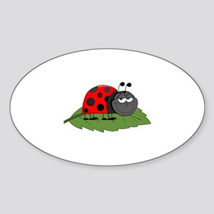 Ladybug Sticker (Oval)