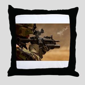 Colt M4 carbine Throw Pillow