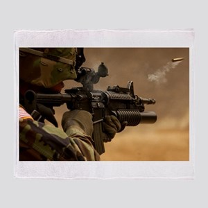 Colt M4 carbine Throw Blanket