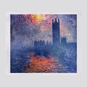 Claude Monet Parliament In London Throw Blanket