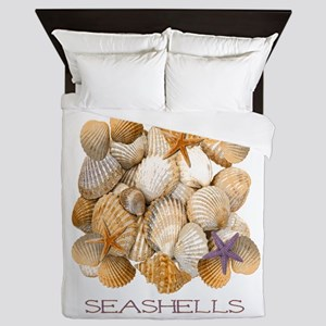 Seashells 2 Queen Duvet
