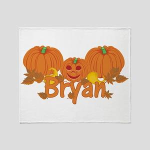 Halloween Pumpkin Bryan Throw Blanket