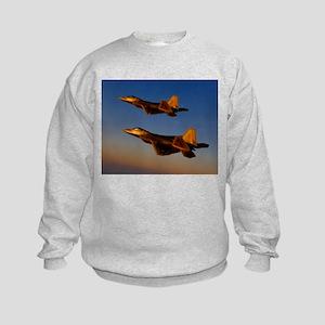 Two F/A-22 Raptors. Kids Sweatshirt
