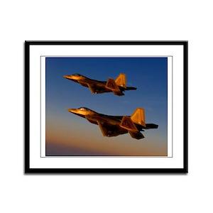 Two F/A-22 Raptors. Framed Panel Print
