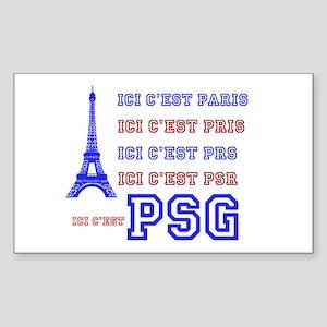 Ici cest PSG Sticker (Rectangle)