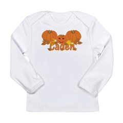 Halloween Pumpkin Caden Long Sleeve Infant T-Shirt