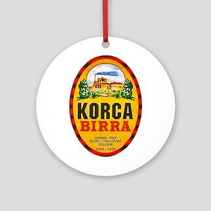 Albania Beer Label 1 Ornament (Round)