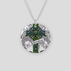 Johnston Tartan Cross Necklace Circle Charm