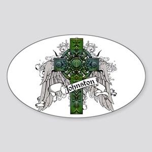 Johnston Tartan Cross Sticker (Oval)