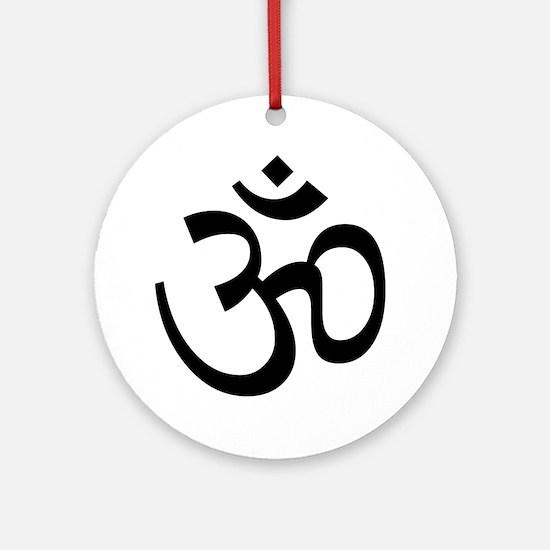 Aum / Om Symbol Ornament (Round)