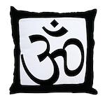 Aum / Om Symbol Throw Pillow
